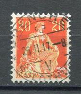 Helvetia Mit Schwert SBK Nr. 108 (Mi Nr. 102x) Mit Vollstempel Grenchen - Used Stamps