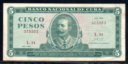 495-Cuba 5 Pesos 1968 L34 - Cuba
