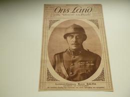 """Origineel Knipsel ( 3799 ) Uit Tijdschrift  """" Ons Land """"  1923 : Baron Baltia  Gouverneur Van Eupen - Malmedy - Zonder Classificatie"""