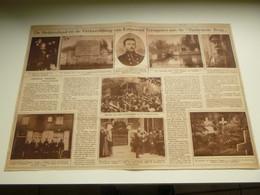"""Origineel Knipsel ( 3800 ) Uit Tijdschrift  """" Ons Land """"  1923 :  Korporaal Trésignies  """" Verbrande Brug """" Vilvoorde - Zonder Classificatie"""