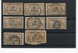 !!! LOT D'OBLITERATIONS SUR N°20 DU LEVANT, DONT VATHY, RHODES, SAMSOUN, DARDANELLES... - Used Stamps