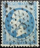 N°22. Variété. Oblitéré étoile De Paris N°5 - 1862 Napoleon III