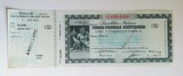 """Buono Postale Fruttifero Serie """" P/0"""" Da L.500.000 Anno 1981 - Other"""