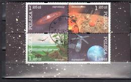 Poland  2004 - History Of The Earth - Mi 4162-4165 - Block Of 4 - Used - Usati