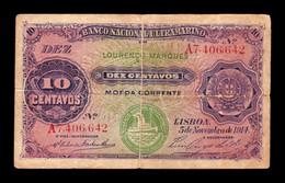 Mozambique 10 Centavos 1914 Pick 59 BC+ F+ - Mozambique