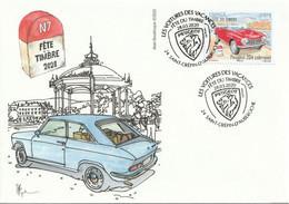 """FDC Du 28-03-2020 - St Crépin D'Auberoche- 24, Dordogne """"Fête Du Timbre - Peugeot 204"""" (YT 5204) - 2010-...."""