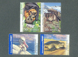 Australia 2007 MiNr. 2854 - 2857  Australien  ANIMALS Mountain Pygmy-possum, Grey-headed Flying-fox 4v MNH** 7.00 € - Murciélagos