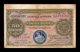 Mozambique 50 Centavos 1914 Pick 61 MBC VF - Mozambique