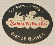 SOUS BOCKS MICRO BRASSERIE SAINTE NITOUCHE BEER OF WALLONIA - Portavasos