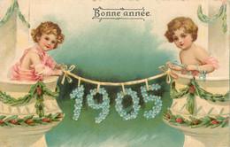 CARTE BONNE ANNEE 1905 CARTE EN RELIEF - Neujahr