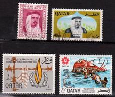 Qatar - 1966 Et 1970 - 4 Timbres Oblitérés - Qatar