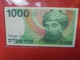 ISRAEL 1000 SHEQALIM 1983 Circuler - Israel