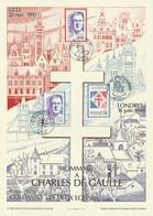 HOMMAGE à Charles De GAULLE Avec 3 Oblitérations Illustrées Différentes De Lille - 1990 - Non Classificati
