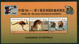 Australia 1996 MiNr. (Block 22) Australien Mammals  Kangaroos Exhibition CHINA  S/sh MNH**  5,00 € - Mint Stamps