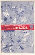Carte Postale Publicité - Avec La Pile MAZDA - Illustrateur Dubout - Dubout