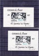 Espagne - Yvert BF 29 + 29a ** - Picasso - Guernica - Valeur 9,75 Euros - Blocks & Sheetlets & Panes