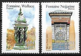 France 2001 N° 3441/3442 Neufs France Maroc à La Faciale - Unused Stamps