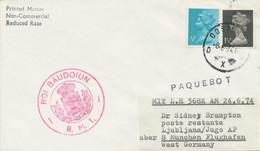 GB 1974 Rare Combination Of Ship Mail And FIRST FLIGHT W. LH MUNICH - LJUBLJANA - Abarten & Kuriositäten