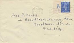 GB 1943 George VI 2 1/2d Ultramarine Single Postage 4 VF Covers ALL CONTROLS - Abarten & Kuriositäten
