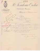 """Lettera """"Ditta Fonderia Oretea-Societa'Florio Rubattino""""- Italy Italia - Documenti Storici"""