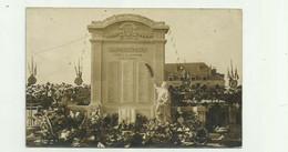 62 - BAPAUME -  CP PHOTO - Inauguration Du Monument Aux Morts Bon état - Bapaume