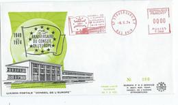 LETTRE AVEC EMA ROUGE 25 ° ANNIVERSAIRE CONSEIL DE L'EUROPE STRASBOURG - Instituciones Europeas
