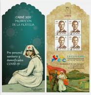 ¡NOVEDAD! ESPAÑA SPAIN ESPAGNE 2020 CARNÉ CARNET COVID-19 CORONAVIRUS PROMOCIÓN DE LA FILATELIA EXFILNA ECC CÁCERES - 2011-... Unused Stamps