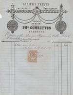 1885 NARBONNE - PAPIERS PEINTS, Tapisserie, Ameublement - Philippe COMBETTES - Documentos Históricos