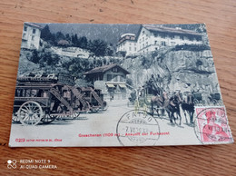 RARE CPA  SUISSE// GOESCHENEN (1609M)//ANKUNFT DER FURKAPOST// BELLE ANIMATION - ZH Zürich