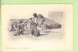 ALGERIE - BISKRA - Un Campement - Superbe Plan - Photo Arnold VOLLENWEIDER N° 21 - Dos Simple - 2 Scans - Biskra