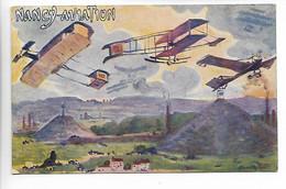 Aviation Carte Colorisée NANCY AVIATION Meurthe Et Moselle   ...G - ....-1914: Precursores