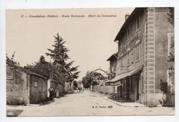- CPA CONDRIEU (69) - Route Nationale - Hôtel Du Commerce - Edition B. F. N° 17 - - Condrieu