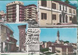 Saluti Da..... LOMAZZO. Torre. Chiesa. Municipio. 8sd - Como
