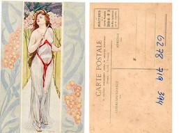R. CARNIEL - Femme Art Nouveau - Les Maitres De La Carte Postale - Série B N° 3 - Les Mois Symboliques (6804 ASO) - Altre Illustrazioni