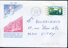 "N°YT 2690 (1991) - Obl. ""ondulations""  Agen (47) - 1961-...."