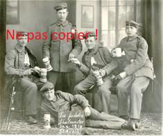 PHOTO ALLEMANDE - SOLDATS DU IR 173 A SAINT AVOLD PRES DE FORBACH MOSELLE - LORRAINE 1916 - GUERRE 1914 - 1918 - 1914-18