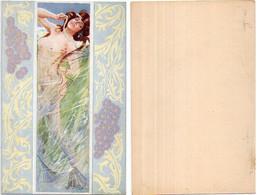 R. CARNIEL - Femme Art Nouveau - Les Maitres De La Carte Postale - Les Mois Symboliques (Non Mentionnés) (6807 ASO) - Altre Illustrazioni