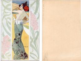 R. CARNIEL - Femme Art Nouveau - Les Maitres De La Carte Postale - Les Mois Symboliques (Non Mentionnés) (6808 ASO) - Altre Illustrazioni