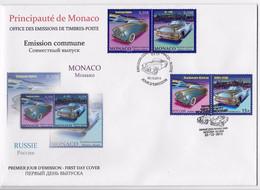 MONACO - 1er JOUR MONACO RUSSIE - AUTOMOBILES - FDC