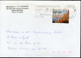 N°YT 2733 (1991) - Obl. Flamme Temporaire De Libourne (33) - Etape Du Tour De France - 1961-....