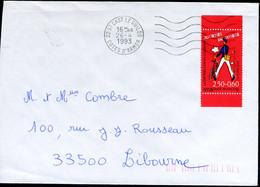 """N°YT 2792 (1993) - Obl. """"ondulations"""" De Saint-Cast-le-Guildo (22) - 1961-...."""