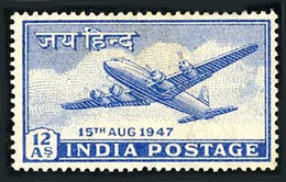 Inde India Indien 1947 Independance Douglas DC-4 Skymaster (YT Yvert PA 11, Mi Michel 185, SG Gibbons 303) - Airplanes