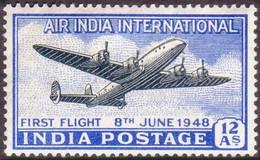 Inde India Indien 1948 Air International Lockheed Constellation (YT Yvert PA 12, Mi Michel 186, SG Gibbons 304) - Airplanes