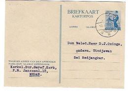 Briefkaart Medan 12/8/49 - Netherlands Indies