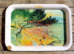 Bière KRONENBOURG - Ancien Plateau Série Peintres Impressionnistes : CROSS Plage De St-Clair - Other