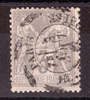 Sage N° 87 - Oblitération Cachet D'essai En Scie Circulaire Paris Place De La Bourse 3 Août 1881 - 1876-1898 Sage (Type II)