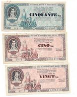 WW2  1944  Lot 3 Tickets Matière Différents ( Section Papier Et Carton) Ttb état - Bonos