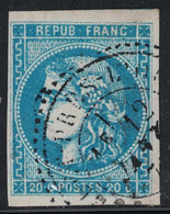 BORDEAUX  - N°45C - OBLITERATION CACHET PERLE - ???? - COTE TIMBRE 70€. - 1849-1876: Classic Period