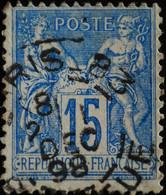 -Sage N°101 Type II  Ob  ( CAD ) .PARIS R BLEU. 1898 ( Bur 83 ) - 1876-1898 Sage (Type II)