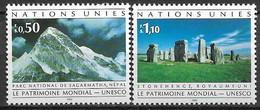 1992 UNO Genf Mi. 210-11**MNH  UNESCO-Welterbe - Nuevos